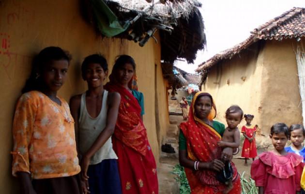 India Village children