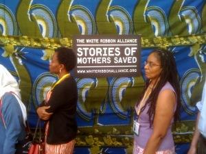 The Washington, D.C., opening of the White Ribbon Alliance exhibit.