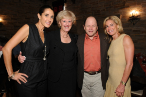 "Actress Melina Kanakaredes (left), Jhpiego CEO, Leslie Mancuso, Jason Alexander from ""Seinfeld"" and Jamie McCourt, owner of the LA Dodgers."