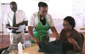 Kenyan health care providers use a new computer-assisted learning package to improve their training skills.