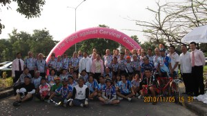 The Tour of Hope Team in Thailand.