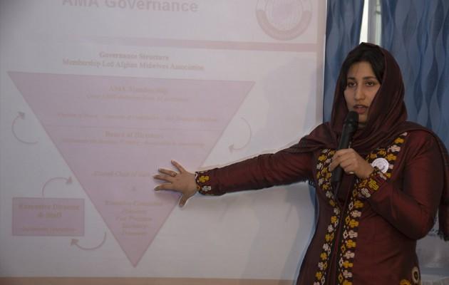 Midwife Mozhgan Mohammadzai of Afghanistan