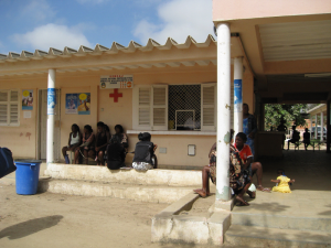 Fronteira Health Center in Benguela Province, Angola, where a Jhpiego-pioneered quality assurance program helped health providers improve health care services for patients