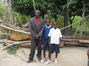 Bahati Sanga with sons Niko and Isaac
