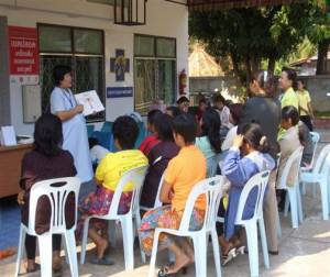 Thai women learn about cervical cancer, a leading killer of women in the developing world.