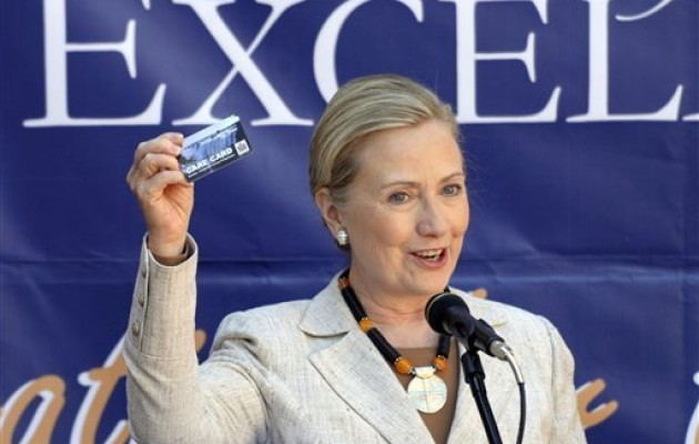 Secretary of State Hillary Clinton praised the Zambian government for its vision in deploying an electronic health record system.