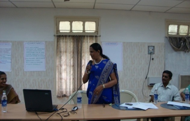 Dr.Indukala attends a Jhpiego-sponsored training in long-acting methods of family planning.