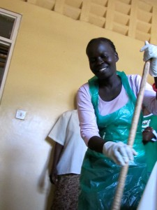 Silper Agandi is among the workers at the Migosi Health Centre who has benefited from a family planning workshop.