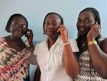 The MCHIP Team, Martha Appiagyei, Dorothy Aikins and Susuana Van Brocke, ready to provide support and mentoring to Ghana nursing tutors.
