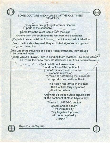 1993 Prose by Abigail Kyei