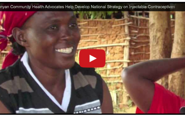 Kenyan Community Health Advocates Help Develop National Strategy on Distribution of Injectable Contraceptives