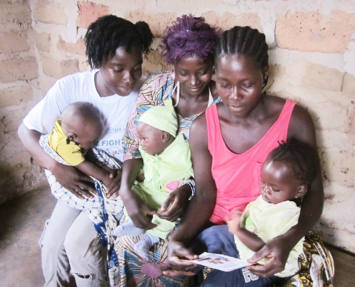 Liberian mothers receive family planning information when they bring their children to be immunized as part of an integrated approach.