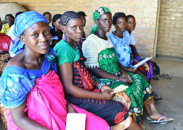 Expectant women waiting for individual antenatal counseling at Kaporo Rural Hospital in Karonga, Malawi.