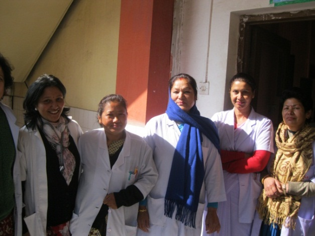PAC health providers in Kathmandu, Nepal in January 2013.