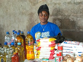 Marwo Weagai, a Grand Bassa Market vendor, participates in an MCHIP-funded initiative to increase access to family planning services.
