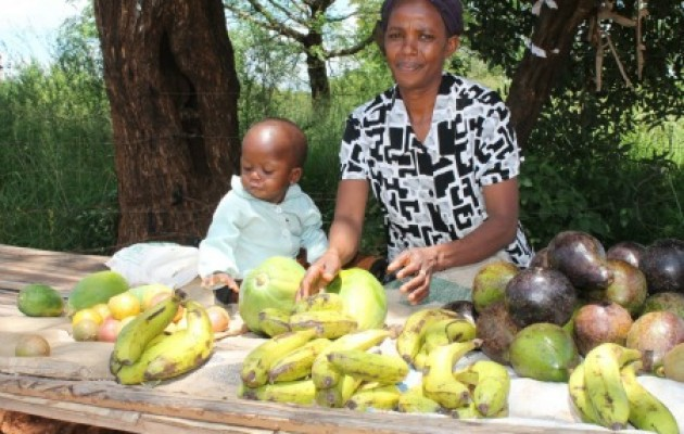 Cecily Wanyaga with her son, Ian.