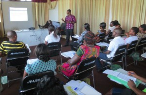 CHN Cobbinah trains other CHNs in best practices.