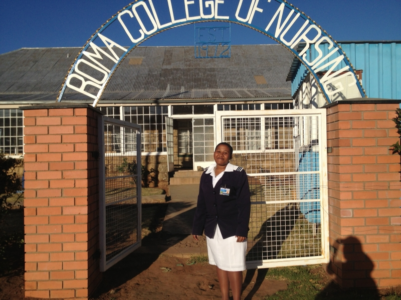 Nursing student Tsepiso Jomane participates in a program to strengthen clinical skills while serving in a rural health clinic.