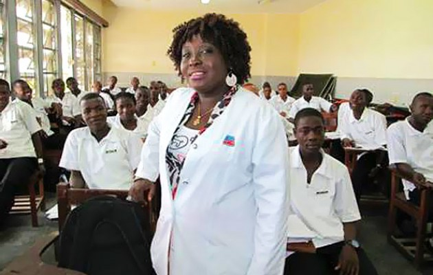 Rebecca Scotland, nursing instructor at Liberia's Tubman National Institute of Medical Arts (TNIMA).
