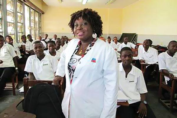 Rebecca Scotland, nursing instructor at Liberia's Tubman National Institute of Medical Arts (TNIMA).
