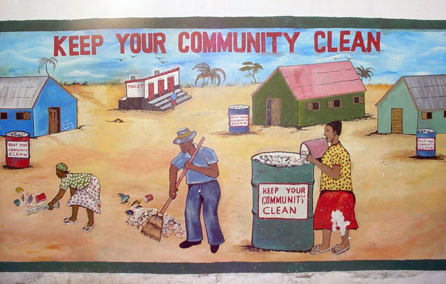 Message to the community about cleanliness.