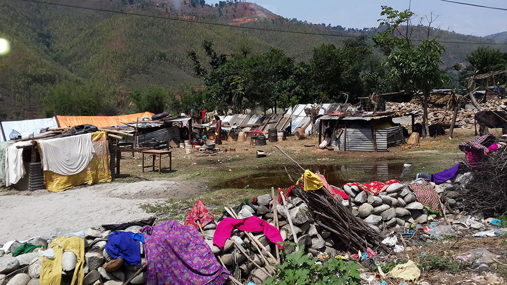 Nepal Villages in the aftermath.