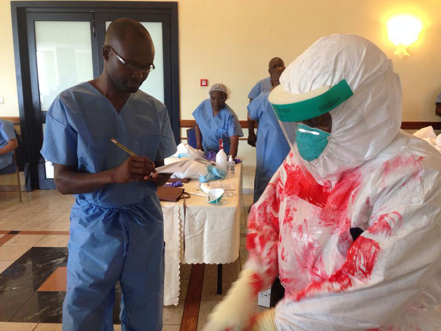 The first of two regional trainings in Ebola preparedness held in Ghana; 39 participants from nine countries.