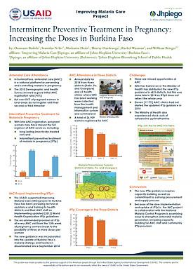 Intermittent Preventive Treatment in Pregnancy Increasing the Doses in Burkina Faso