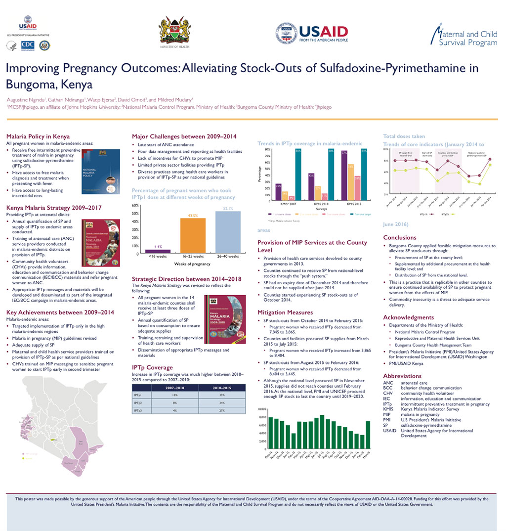 Improving Pregnancy Outcomes: Alleviating Stock-Outs of Sulfadoxine-Pyrimethamine in Bungoma, Kenya