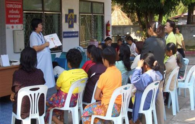 Thai women learn about cervical cancer, a leading killer of women in the developing world. Jhpiego in Thailand