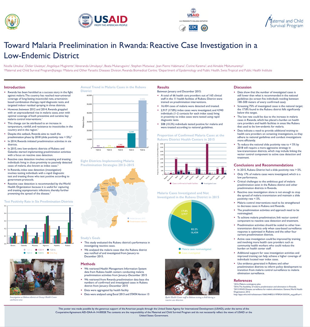 Toward Malaria Preelimination in Rwanda: Reactive Case Investigation in a Low-Endemic District