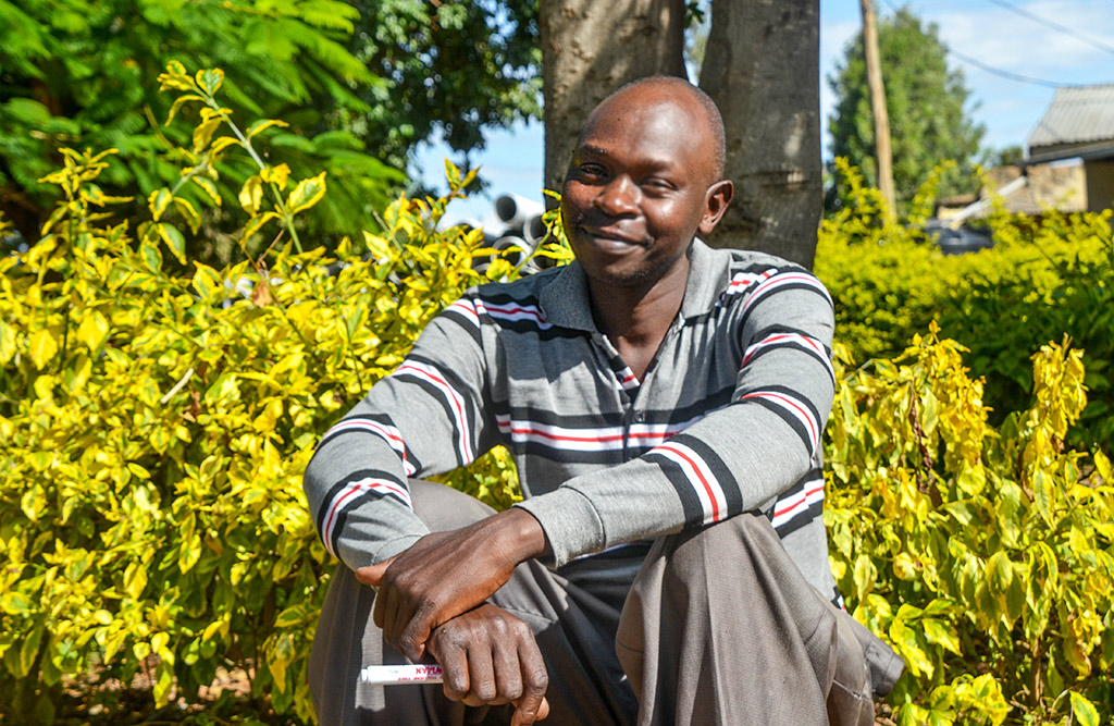Charles Waweru, a community health volunteer with the Healthy Heart Africa program
