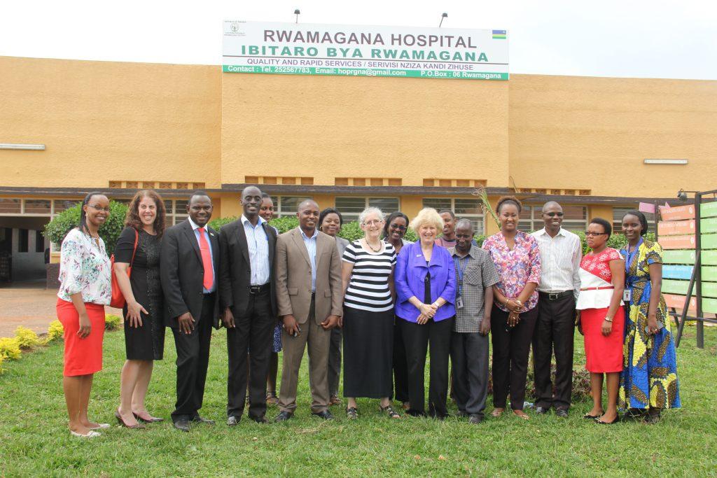 Dr. Leslie-USAID-MoH-Rwamagana Hospital and MCSP Rwanda Team