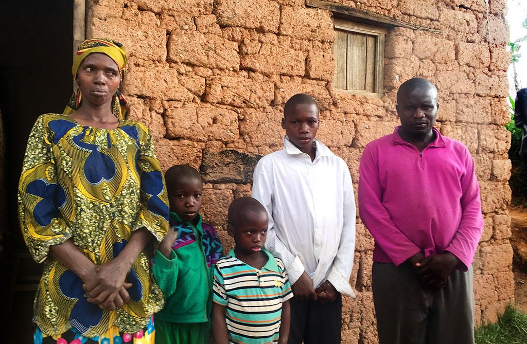 Rwandan family with children