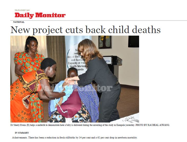 Ugandan newspaper features Jhpiego-led low-dose, high frequency training approach.