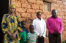 Rwandan family with children