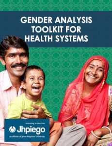 The 2016 Jhpiego Gender Analysis Toolkit is a practical guide for public health professionals seeking to understand how gender can impact health outcomes, both through service delivery and access to information and care.