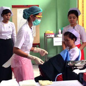 Myanmar midwife training
