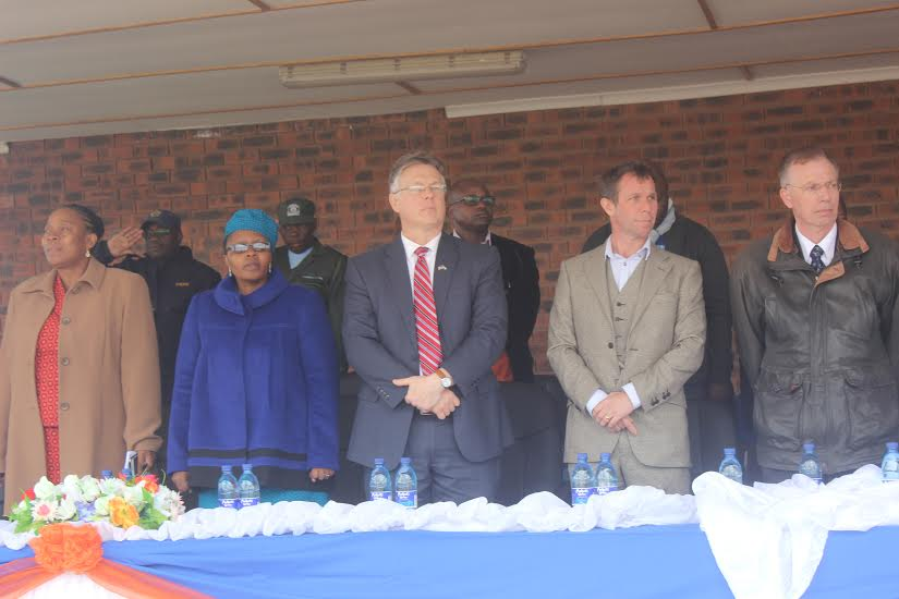 Among those who joined the campaign, from left to right below: Dr. 'Nyane Letsie (Direct General of Disease Control); Hon. Liteboho Kompi (Deputy Minister of Health); Matthew Harrington (US Ambassador to Lesotho); Ruben Haylett (PEPFAR coordinator); and David Brown (USAID Director to Lesotho).
