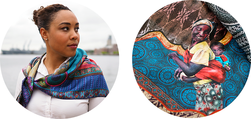 Women of the World scarf photos