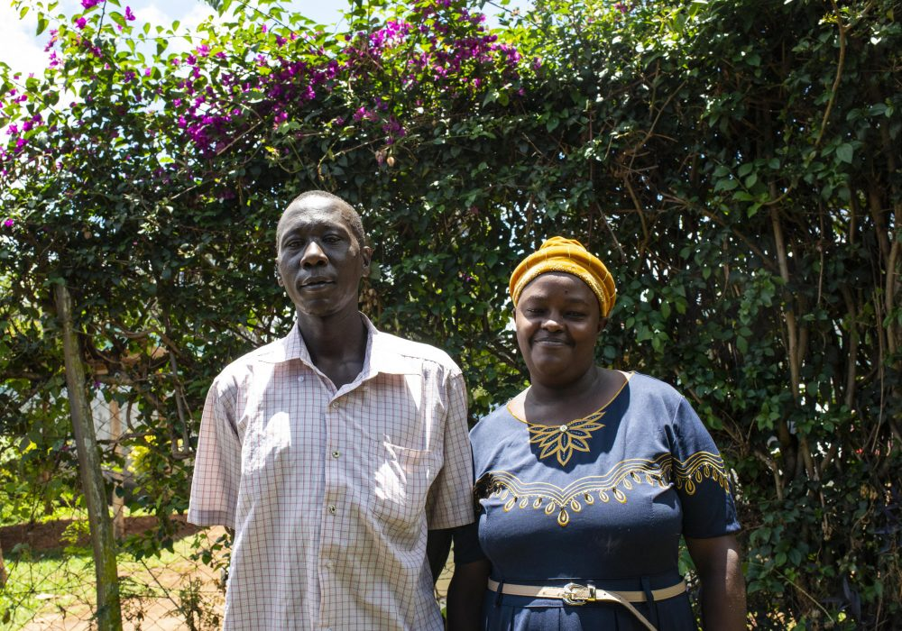 Anthony Gitay Ngiabi and his wife Beatrice Wambui Gikuru