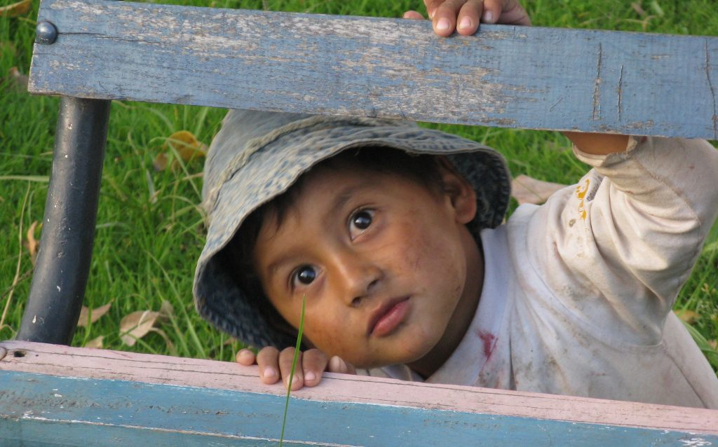 Boy in Ecuador